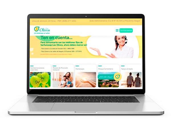 diseño de paginas web para olivos
